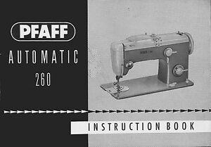 Pfaff 260 sewing machine owners manual pfaff sewing machine   etsy.
