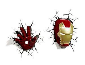 Marvel 3d fx deco light avengers iron man led wall nightlight image is loading marvel 3d fx deco light avengers iron man aloadofball Image collections