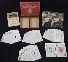 """Vintage Parker Brothers """"Make a Million"""" The Exciting New Game c1935 edition"""