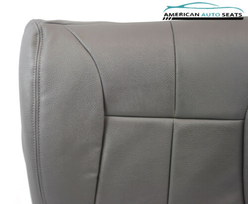 1998 1999 Dodge Ram 2500 Driver Side Bottom Synthetic Leather Seat Cover Gray