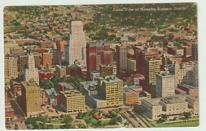 Unused-Postcard-Aerial-View-of-Memphis-Business-District-Tennessee-TN