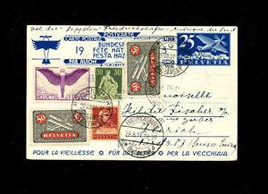 Zeppelin Sieger 129 1931 2nd South America Flight Switzerland treaty dispatch