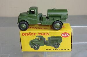 Dinky Toys Modèle No 643 Pétrolier Vn Mib de l'armée