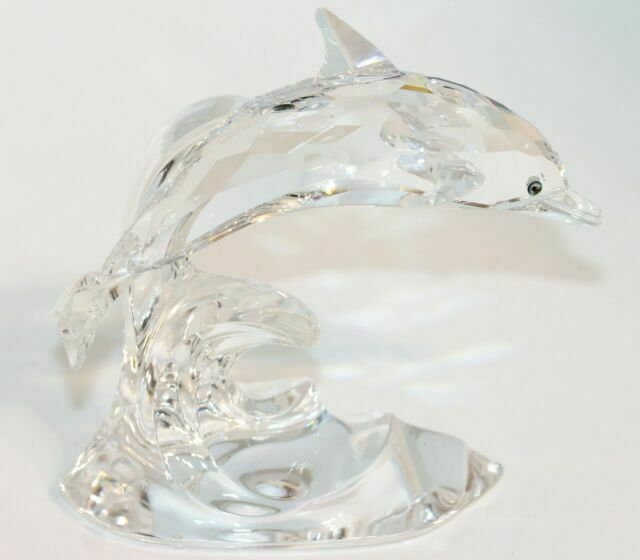 violín Margaret Mitchell heroico  RARE Retired Swarovski Crystal Dolphin on a Wave 190365 MINT Boxed for sale  online | eBay