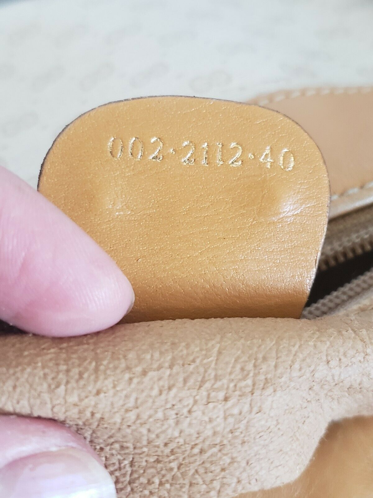 Vtg Gucci Tan GG Monogram Signature Boston Doctor… - image 9
