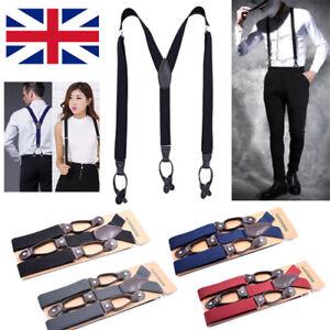 Mens Ladies Adjustable Unisex Trouser Suspenders Slim Braces Clip On Fancy Dress