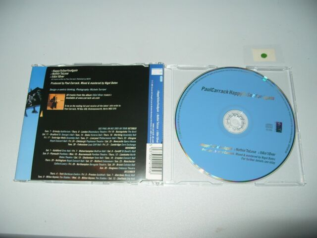 Paul Carrack Happy To See You Again 3 Track cd Single 2003 cd + Inlay are Ex + C