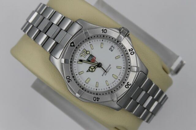a81702f4a978 Tag Heuer WK1211.BA0318 White 2000 Classic SS Watch Womens Men Midsize Mint  Dial