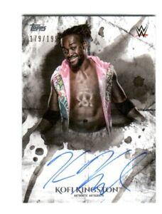 WWE-Kofi-Kingston-2018-Topps-Undisputed-On-Card-Autograph-SN-179-of-199