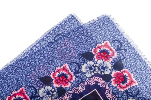 Scarf Spring Shawl New Summer Scarf Floral Ethnic Border Printed Square Fashion