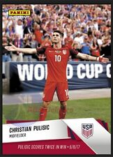 2017 Panini Instant Christian Pulisic Rookie Card #1 Scores Twice US Soccer RC
