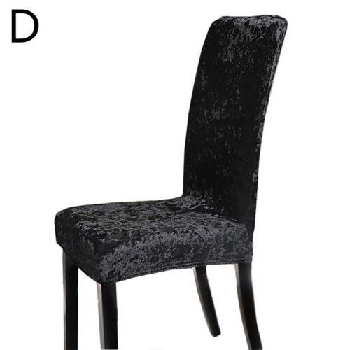 Crushed Velvet Dining Chair Covers Stretchable Protective Slipcover Decor