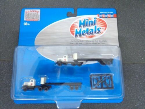 2 N Mini Metals 51125 US Steel White Super Power Tractor//32/' Trailer Set