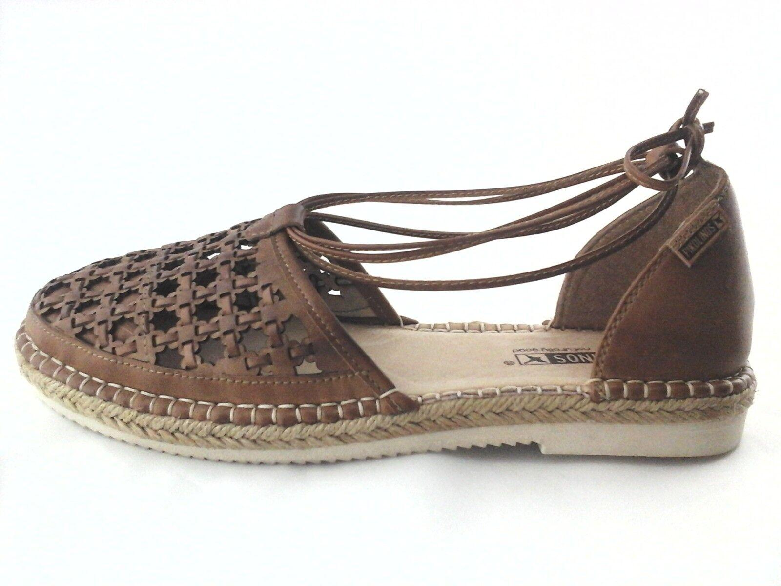 PIKOLINOS Sandals Cadamunt Tan Woven Espadrilles Women's US 8.5 9 EU 39  175