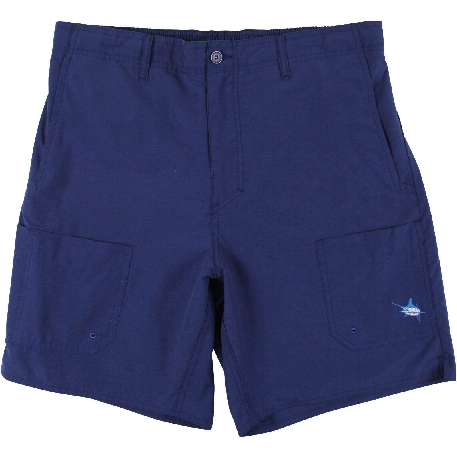 Guy Harvey Men's Low Tide Fishing Boat Shorts...Navy bluee..Choose Size..