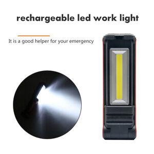Lampadine-lavoro-Torcia-Elettrica-COB-LED-Luce-Officina-Garage-USB-Ricaricabile