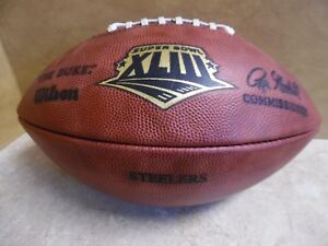 PITTSBURGH-STEELERS-GAME-ISSUED-FOOTBALL-SUPER-BOWL-XLIII-OUTSTANDING-CONDITION