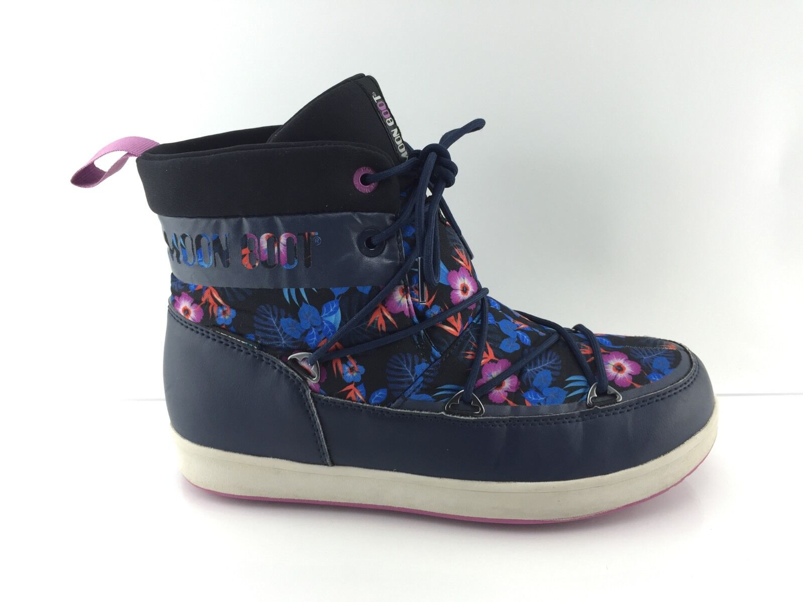 Moon Boot Men's Navy/Multi Color Ankle Boots 8.5