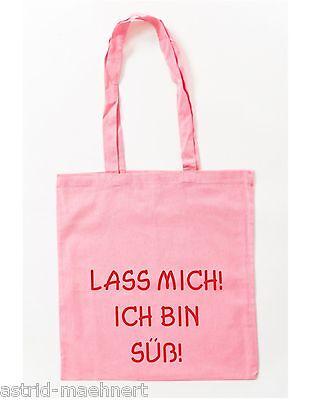 Baumwolltasche - LASS MICH! ICH BIN SÜß! - Jutebeutel - Stofftasche