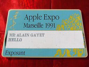 TRES-RARE-CARTE-DE-SALON-APPLE-EXPO-MARSEILLE-1991