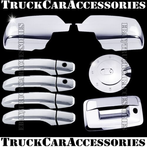 For CHEVY Silverado 2500//3500+HD 2014 Chrome Covers Mirrors+4 Doors+Gas+Tailgate