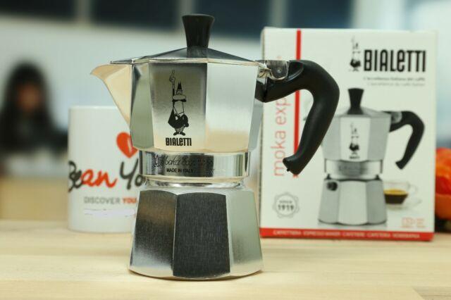 BIALETTI Moka Express 1 Tasse Espressokocher Espressomaschine Espressokanne Alu