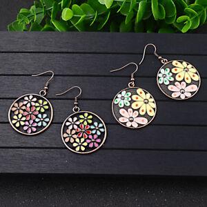 Fashion-Elegant-Women-Colourful-Flower-Resion-Ear-Hook-Drop-Earrings-Jewelry