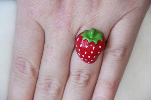Karneval Fasching Ring Erdbeere Kostüm Frucht Strawberry Erdbeeren