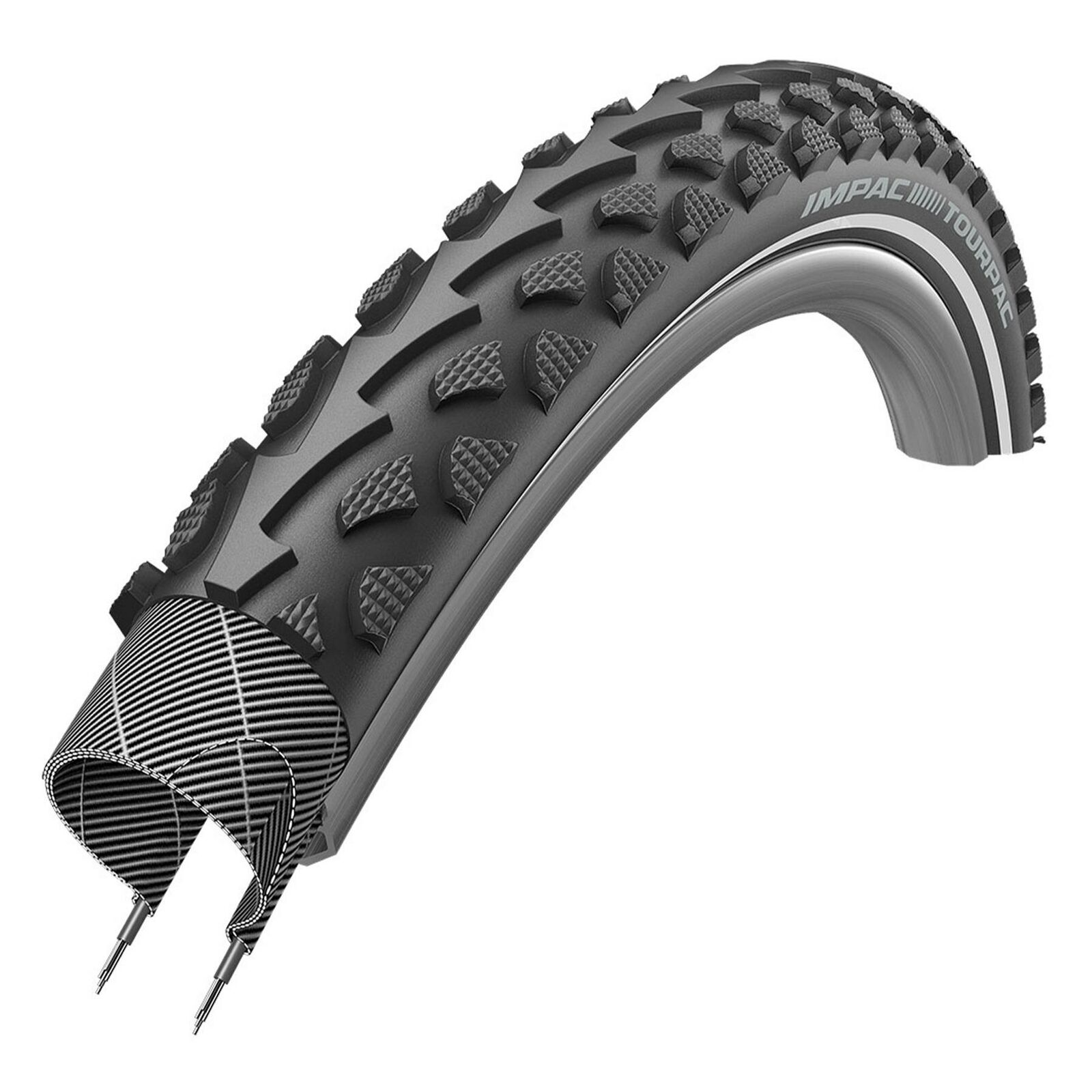 2 X Impac Outpac Bike Tyres 18 X 1.75