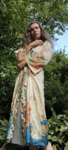 Rare 1920s Pongee Silk Robe - image 1