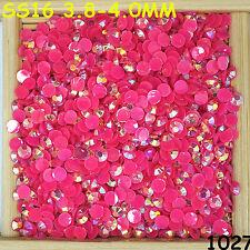 6000pcs SS16 Dark Fuschia AB Non Hotfix Crystal Acryl Rhinestone Beads Flatback