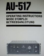 SANSUI au-517 AMPLIFICATORE STEREO INT istruzioni operative Inc CONN DIAG vincolato inglese