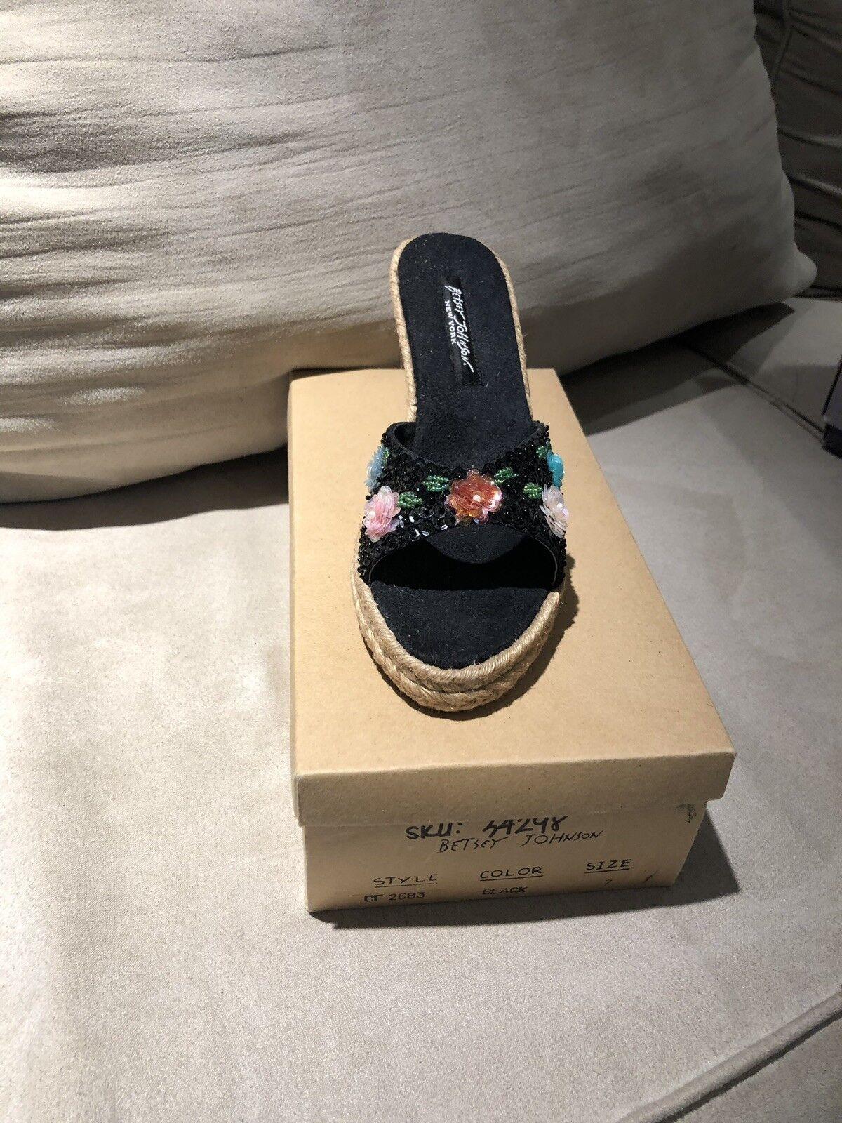 Betsey Johnson shoes shoes shoes Black Size 7 e09e7e
