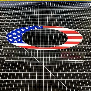 "Oakley ""O"" Logo Decal Sticker American Flag Golf Vault ..."