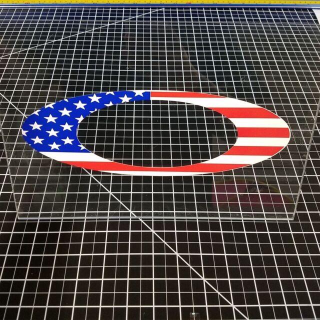 """Oakley """"O"""" Logo Decal Sticker American Flag Golf Vault Polarized"""
