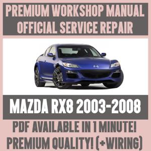 workshop manual service repair guide for mazda rx8 2003 2008 rh ebay co uk 2004 Mazda Mazda 3 Mazda RX-8 Automatic Analog Stick