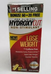 HYDROXYCUT PRO CLINICAL NON-STIMULANT WEIGHT LOSS DIETARY 80 ct 3/2022+