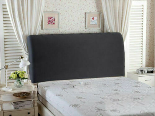 Bed Headboard Cover Stretch Solid Head Dustproof Bedroom Slipcover Decor King