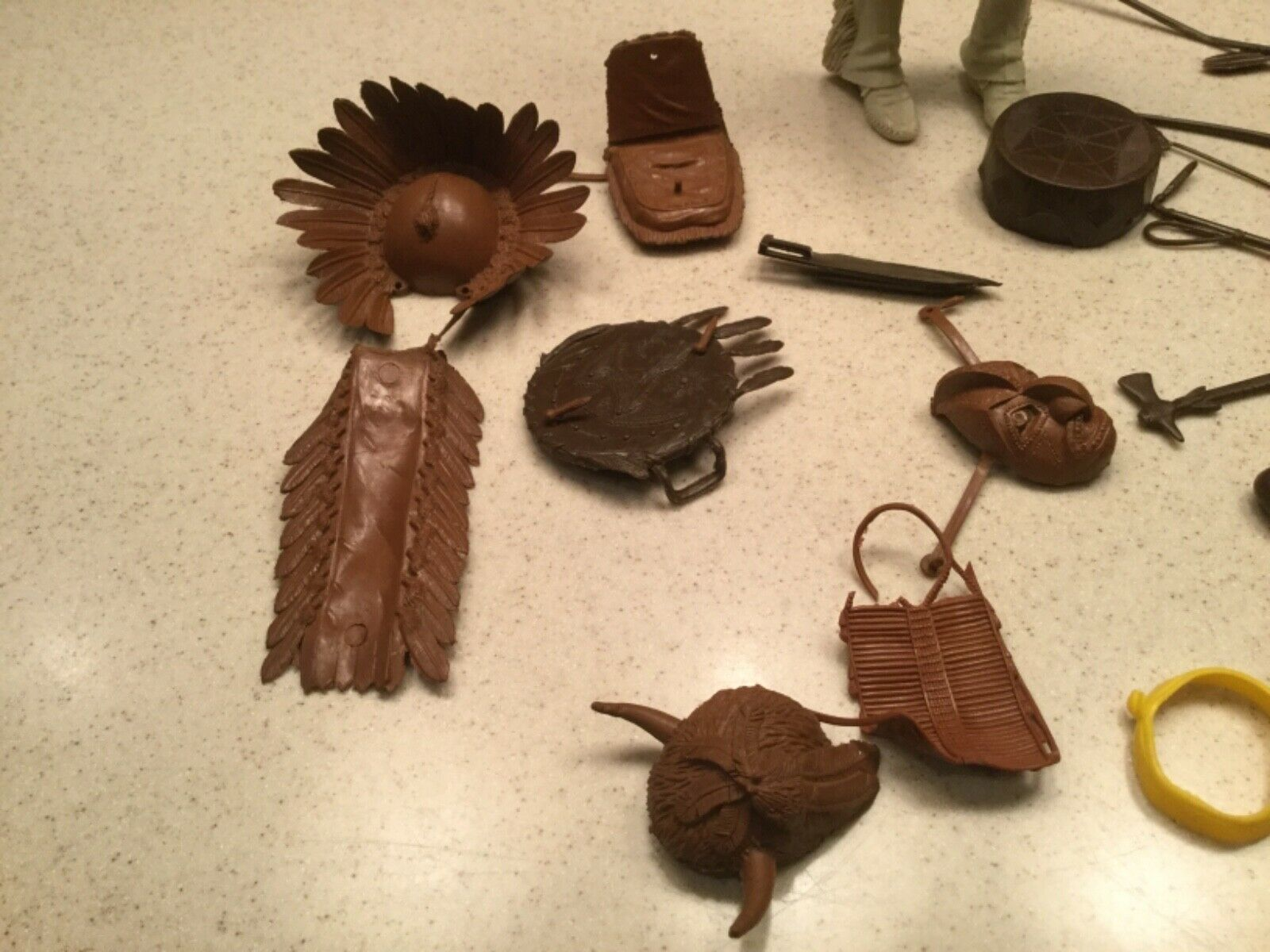 Vintage Louis Marx Geronimo Indian  With Accessories  Used Loose Joints