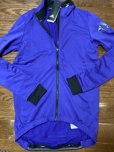 Mens Size Medium Adidas Cycling Jacket Purple BR7815