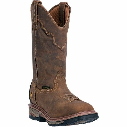 DAN POST Men's Blayde Brown Steel Toe Waterproof Square Toe Boots DP69482 NIB