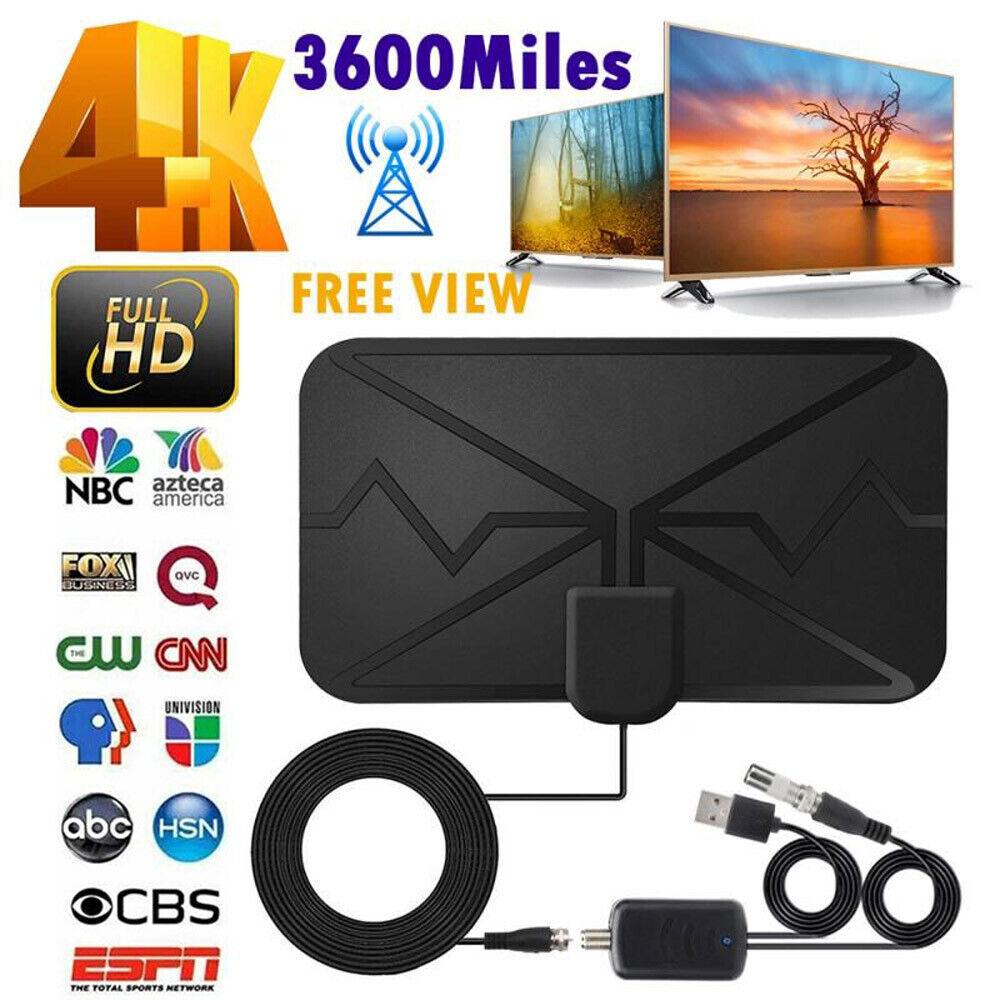 everydaygadgetz 3600 Miles TV Antenna Upgraded Newest HDTV Indoor Digital Amplified 4K 1080P US