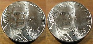 2012 P Jefferson Nickel  ~ Uncirculated Coin from Bank Roll