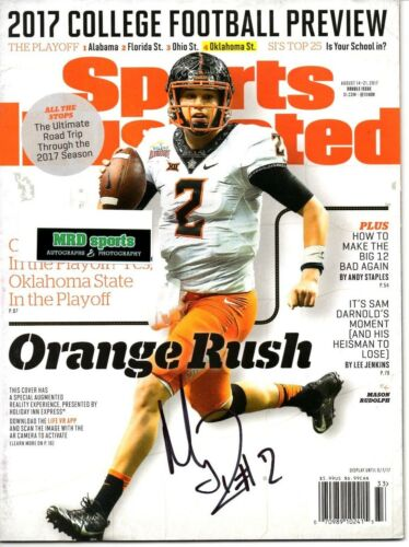Mason Rudolph Reprinted autographed signed Sports Illustrated 8.5x11 photo Ok ST