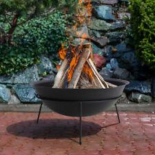 Large Outdoor Cast Iron Fire Pit Bowl Log Wood Burner Firepit BBQ Heater Brazier
