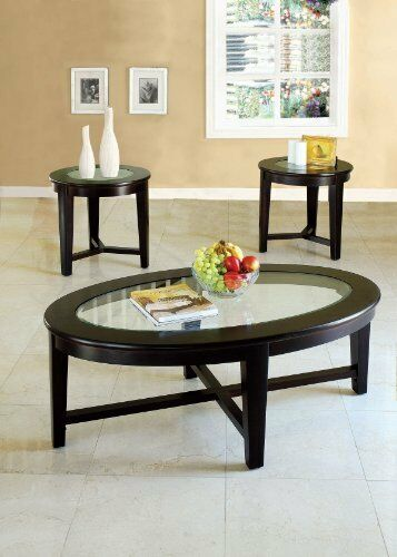 ACME Furniture Piece Kort Coffeeend Table Set Espresso - Espresso finish coffee table set