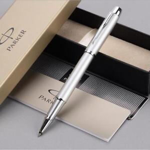 Luxurious Parker IM Ballpoint Pens Matte Black White Clip 0.5mm Fine Nib