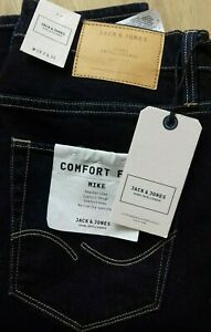 detailed pictures arrives new style Details about Jack & Jones Originals Mike Comfort Fit Jeans Mens Size W30  L32 Inches Dark Blue
