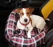 Soft Tartan Plaid Dog,Pet Car Seat,Boot Bed comfort padded Cushion Basket