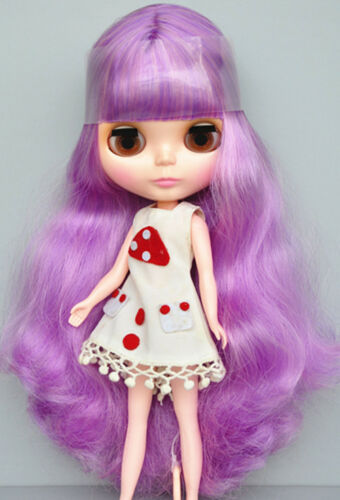 Takara 12 Neo Blythe Purple Hair Nude Doll from Factory TBO105